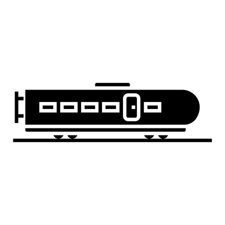 trein moderne pictogram, illustratie, vector teken op geïsoleerde achtergrond Stock Illustratie