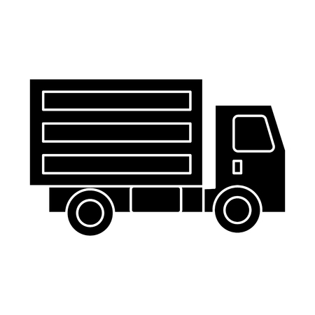 truck mini icon, illustration, vector sign on isolated background