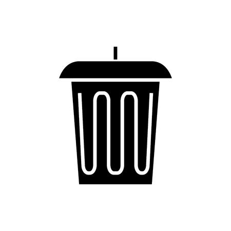 afval - office-bin pictogram, illustratie, vector teken op geïsoleerde achtergrond