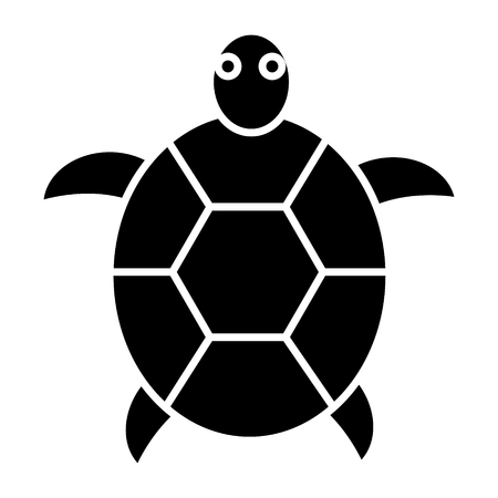 turtle icon, illustration, vector sign on isolated background