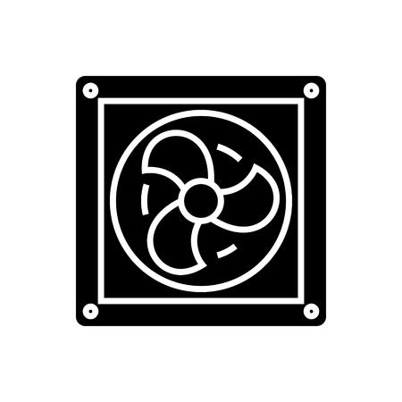 Ventilatie pictogram, illustratie, vector teken op geïsoleerde achtergrond Stockfoto - 88152586