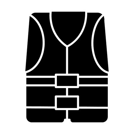 vest icon, illustration, vector sign on isolated background
