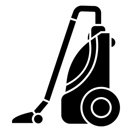 vacuum cleaner icon, illustration, vector sign on isolated background