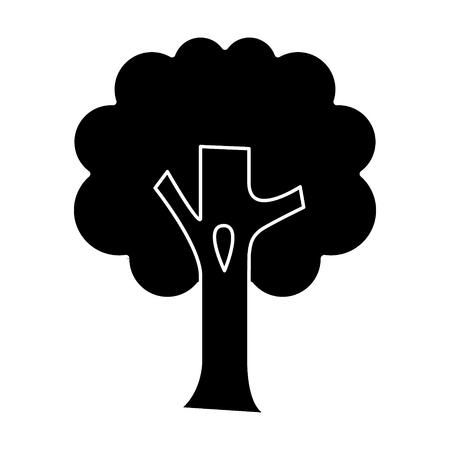 tree big icon, illustration, vector sign on isolated background Illusztráció