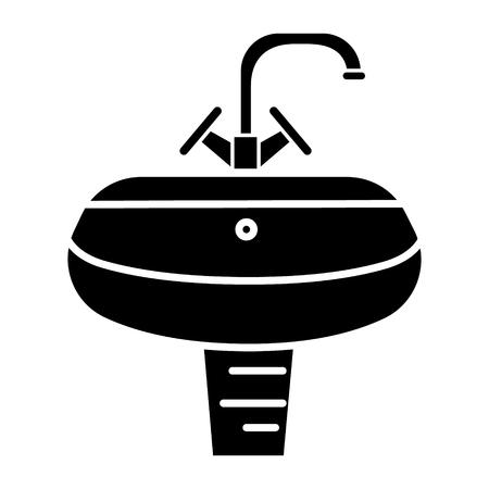 washbasin - washstand icon, illustration, vector sign on isolated background