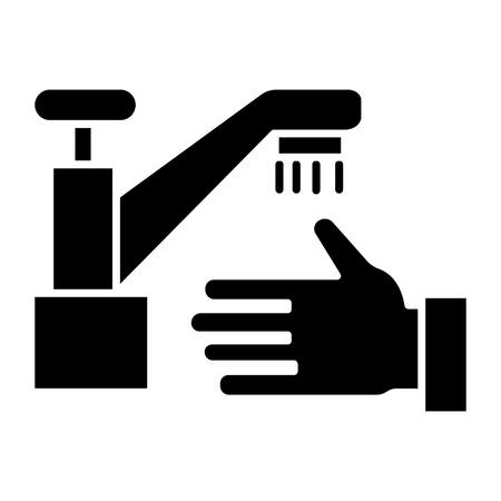 washing hands - wash crane icon, illustration, vector sign on isolated background Illustration