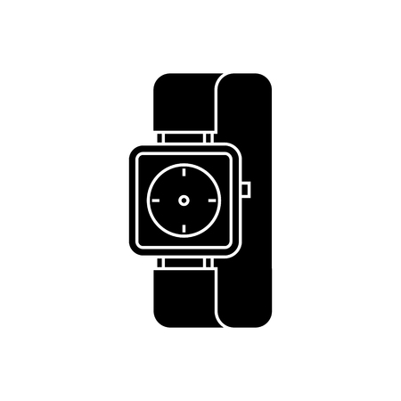 watch wrist icon, illustration, vector sign on isolated background