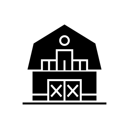 warehouse - farm - barn icon, illustration, vector sign on isolated background Ilustração