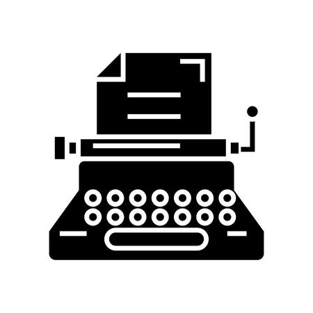 typewriter - writer - writing - copywriting icon, illustration, vector sign on isolated background Illustration