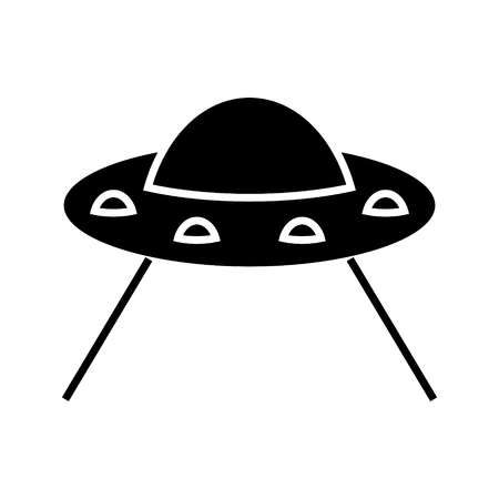 ufo taking cow icon, illustration, vector sign on isolated background