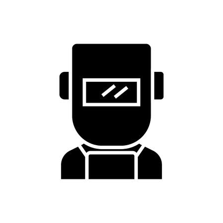 welder icon, illustration, vector sign on isolated background Illusztráció