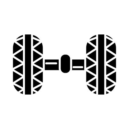 wiel uitlijning - garage pictogram, illustratie, vector teken op geïsoleerde achtergrond