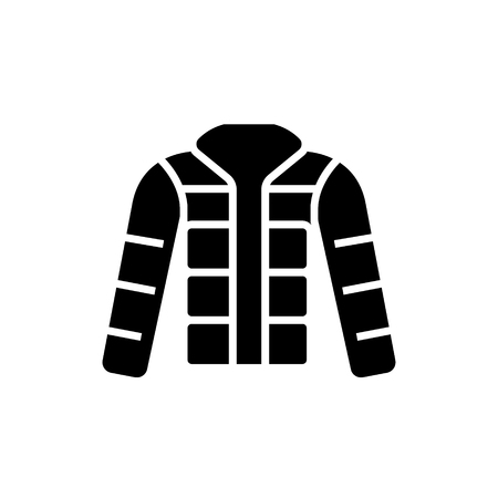 winter jacket - down jacket - outdoor icon, illustration, vector sign on isolated background Illusztráció