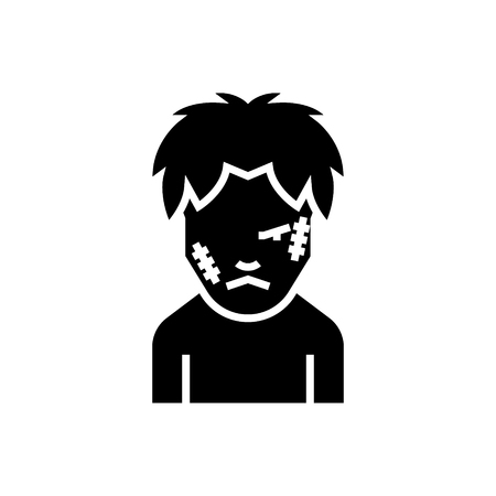 Zombie icon, illustration, vector sign on isolated background