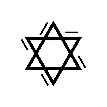estrella de david: Estrella de David - icono judío, ilustración, muestra del vector en fondo aislado