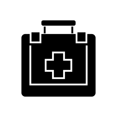 First aid icon, illustration, vector sign on isolated background