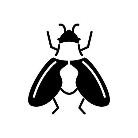 fly icon, illustration, vector sign on isolated background