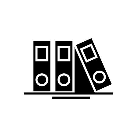 mappen en bestanden pictogram, illustratie, vector teken op geïsoleerde achtergrond
