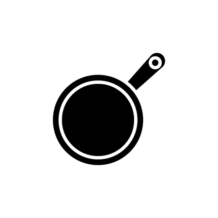 frying pan icon, illustration, vector sign on isolated background