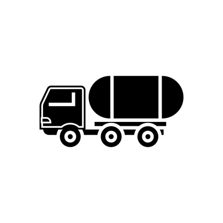 fuel truck icon, illustration, vector sign on isolated background
