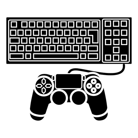 game computer icon, illustration, vector sign on isolated background Illustration