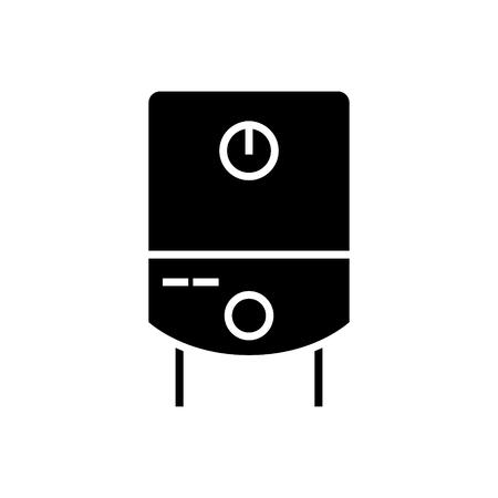 ガスのタンク水ボイラー アイコン、イラスト、ベクトル分離背景に記号 写真素材 - 88107044