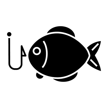 fishing 2 - fish  icon, illustration, vector sign on isolated background