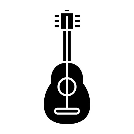 flamenco guitar icon, illustration, vector sign on isolated background Ilustrace