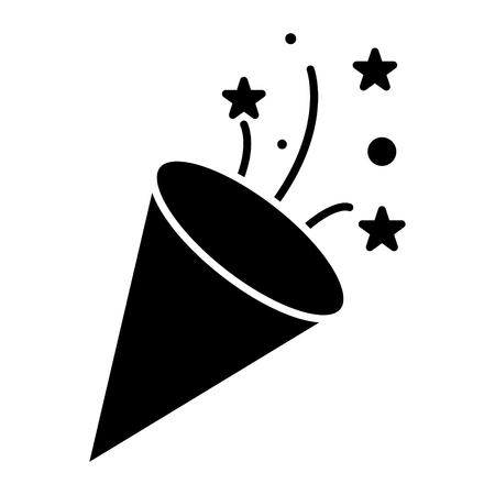 Clapet - icône de pétard, illustration, vecteur signe sur fond isolé Banque d'images - 88115008