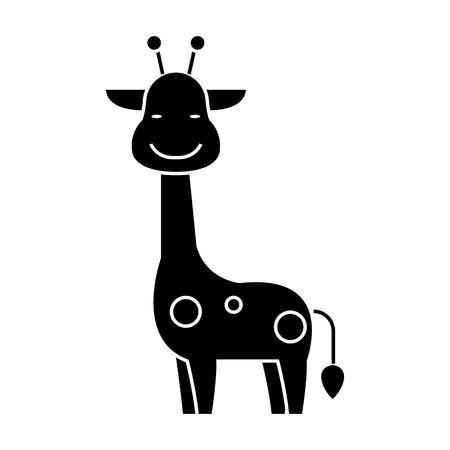 giraffe icon, illustration, vector sign on isolated background