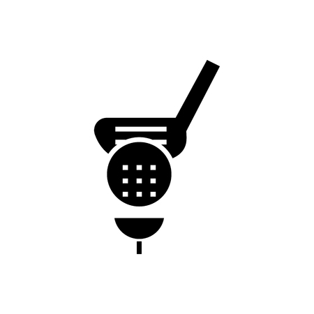golf icon, illustration, vector sign on isolated background Çizim