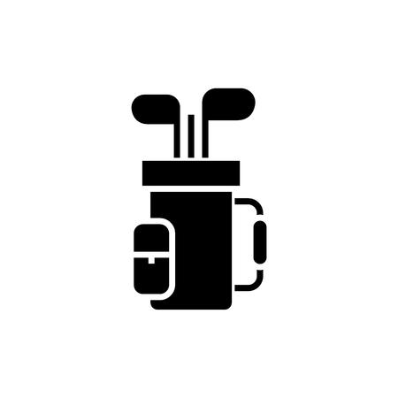 icône de sac de golf, illustration, signe de vecteur sur fond isolé