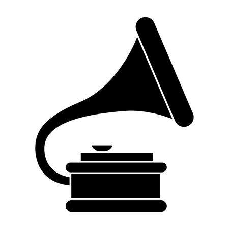 gramophone 2 icon, illustration, vector sign on isolated background
