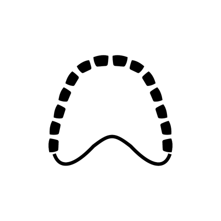 human gum model icon, illustration, vector sign on isolated background Illustration