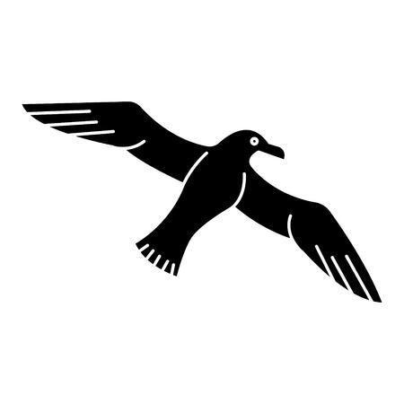 Mouette - icône de mouette, illustration, signe de vecteur sur fond isolé Banque d'images - 88115634