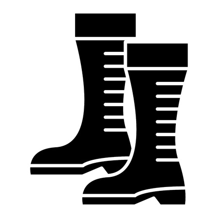 gumboots icon, illustration, vector sign on isolated background Stock Vector - 88115635