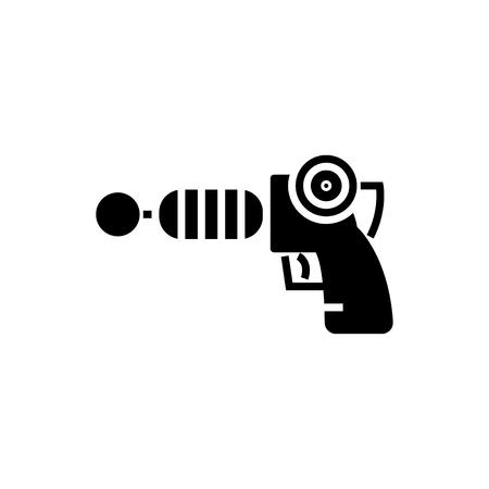 銃プラズマ - スター ・ ウォーズのアイコン、イラスト、ベクトルに孤立した背景に署名します。