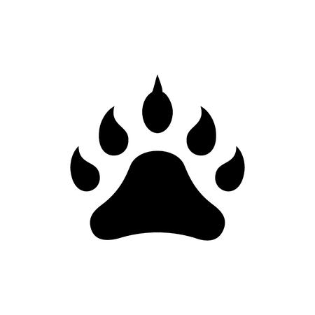 footprint animal icon, illustration, vector sign on isolated background Illustration