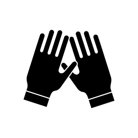 garden gloves icon, illustration, vector sign on isolated background Illustration
