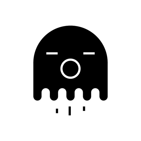 ghost icon, illustration, vector sign on isolated background