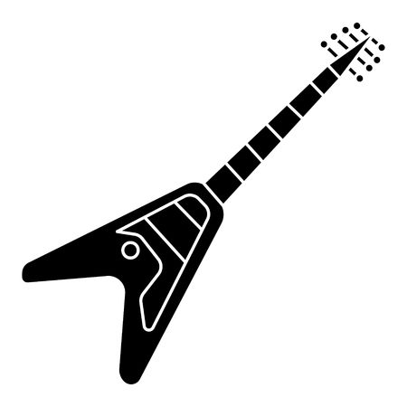 guitar electric - electricguitar icon, illustration, vector sign on isolated background Illustration