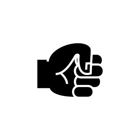 hand fist icon, illustration, vector sign on isolated background Illustration