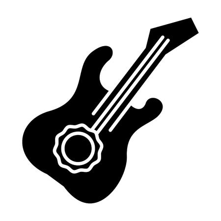 Icona della chitarra, illustrazione, segno di vettore su fondo isolato Archivio Fotografico - 88152742