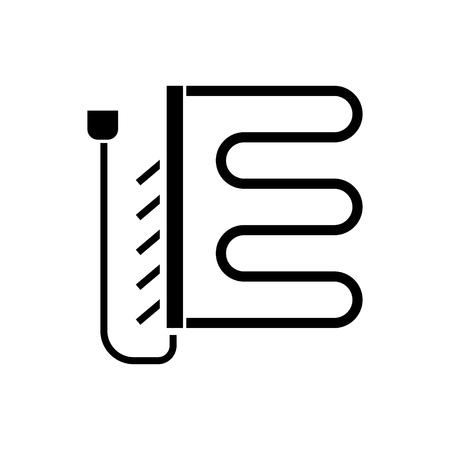 heated towel dryer - rail  icon, illustration, vector sign on isolated background
