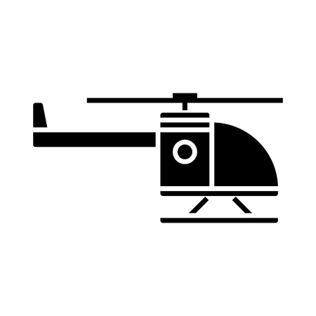 helicopter icon, illustration, vector sign on isolated background Illustration
