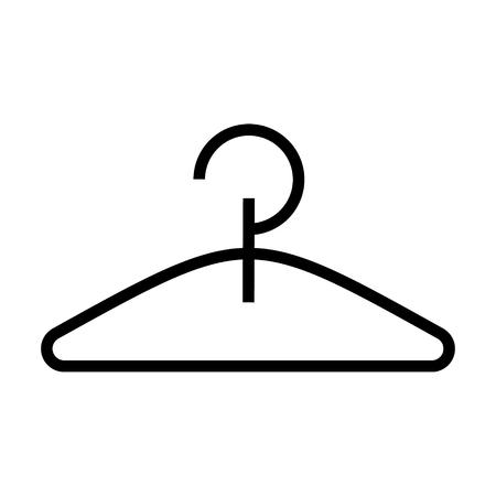 hanger pictogram, illustratie, vector teken op geïsoleerde achtergrond