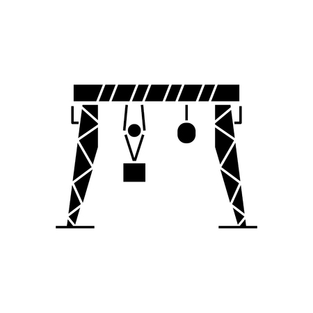 harbour crane icon, illustration, vector sign on isolated background Illustration