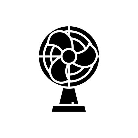 홈 팬 아이콘, 그림, 벡터 격리 된 배경에 서명 일러스트