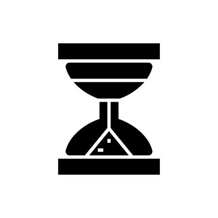 砂時計アイコン, イラスト, 孤立した背景にベクトル記号  イラスト・ベクター素材