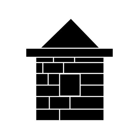 house brick icon, illustration, vector sign on isolated background